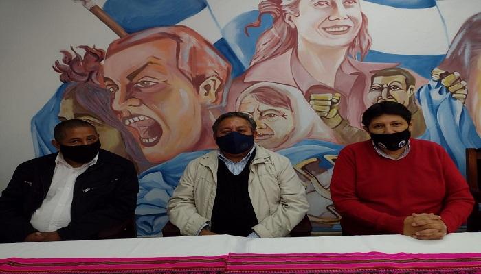 Sebastián Quipildor, Miguel Mamani y Fredy Berdeja